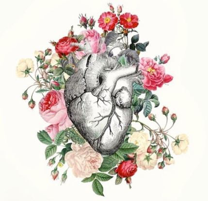 heart and flowers